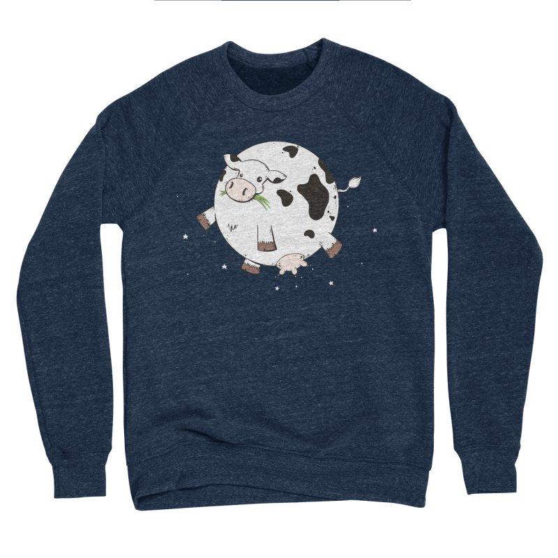 Full Moo Men's Sponge Fleece Sweatshirt by spookylili