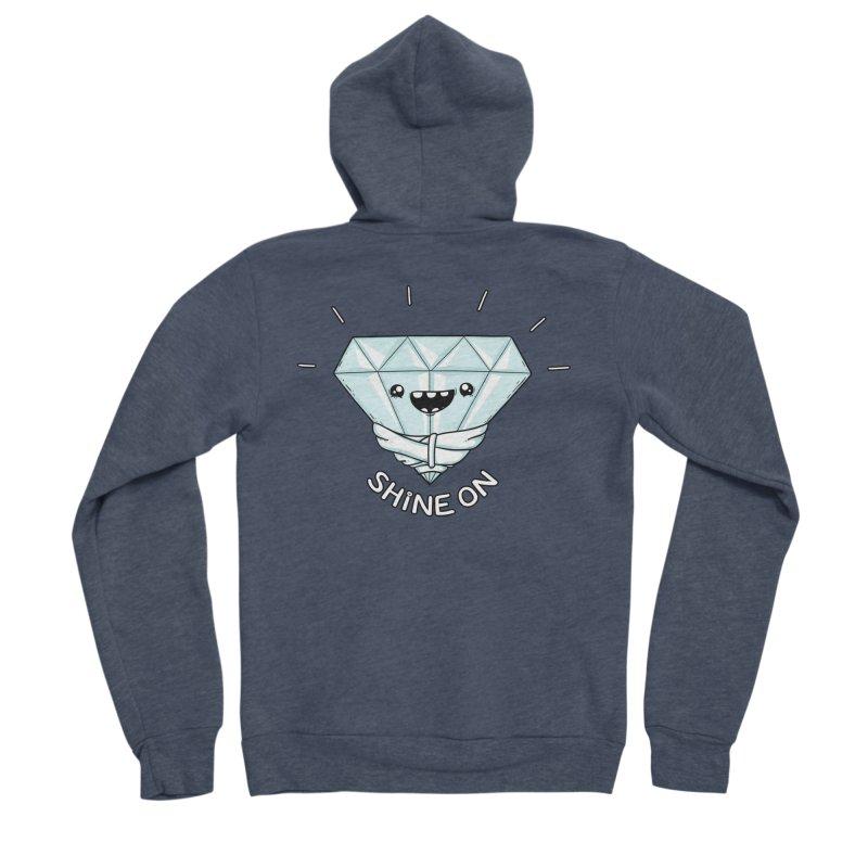 Shine On Men's Sponge Fleece Zip-Up Hoody by spookylili
