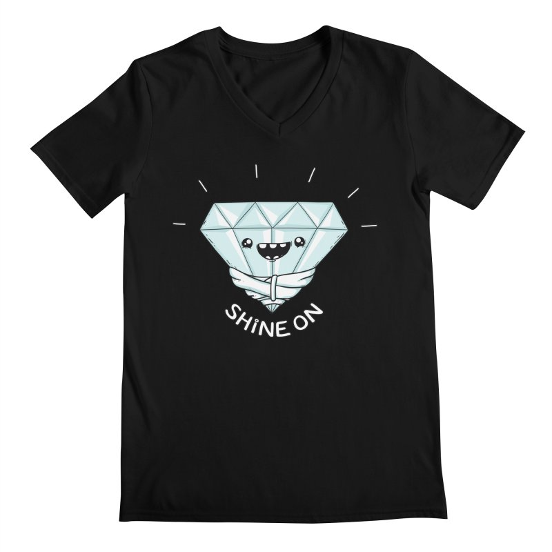 Shine On Men's V-Neck by spookylili