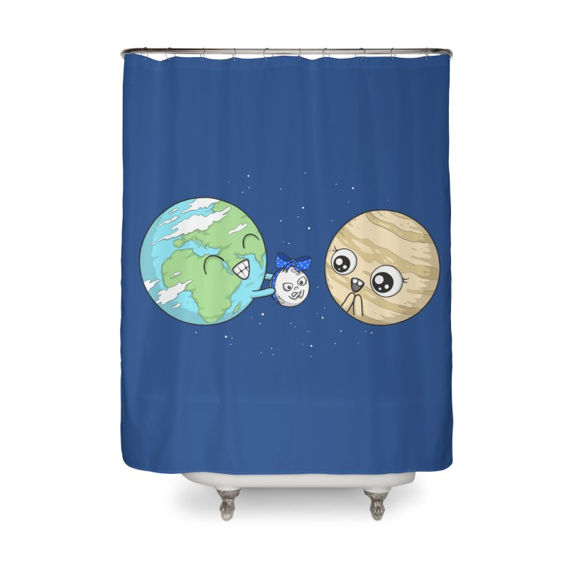 I'd Give You The Moon Home Shower Curtain by spookylili