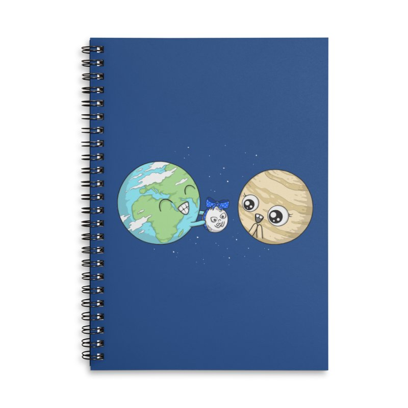 I'd Give You The Moon Accessories Lined Spiral Notebook by spookylili