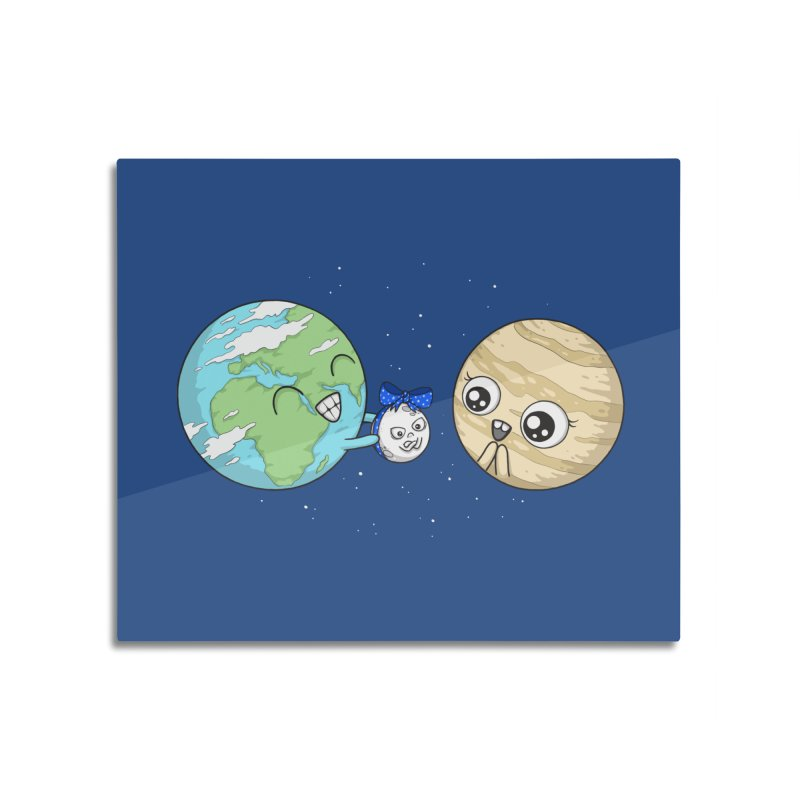 I'd Give You The Moon Home Mounted Aluminum Print by spookylili