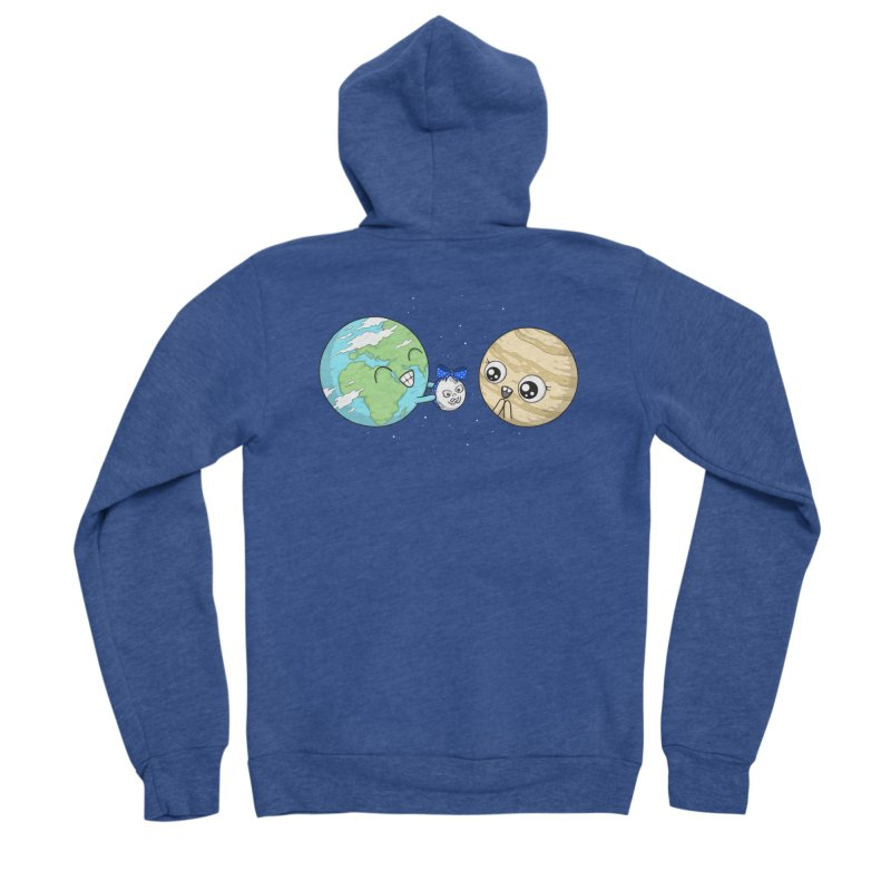 I'd Give You The Moon Men's Sponge Fleece Zip-Up Hoody by spookylili