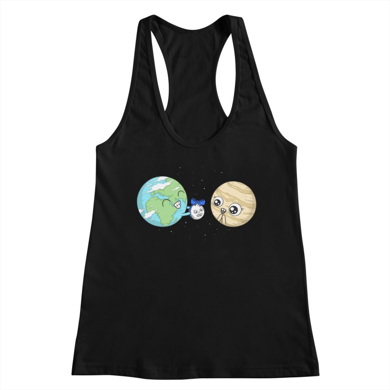 I'd Give You The Moon Women's Racerback Tank by spookylili