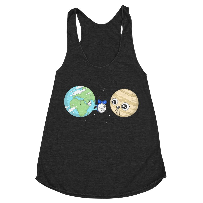 I'd Give You The Moon Women's Racerback Triblend Tank by spookylili