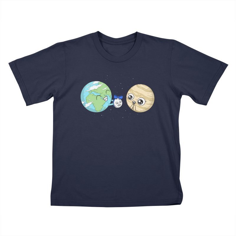 I'd Give You The Moon in Kids T-Shirt Navy by spookylili