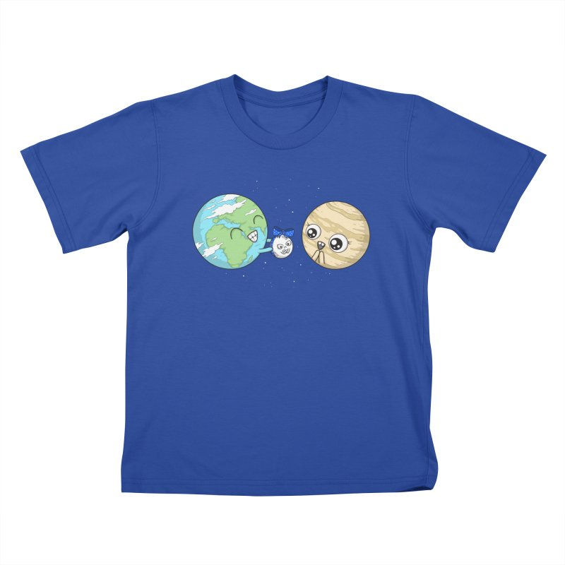 I'd Give You The Moon in Kids T-Shirt Royal Blue by spookylili