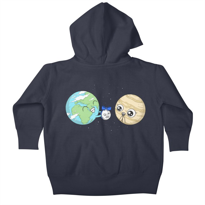I'd Give You The Moon Kids Baby Zip-Up Hoody by spookylili