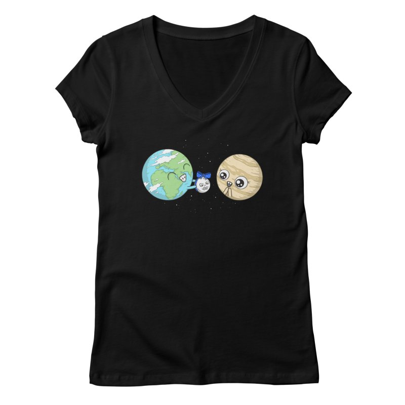 I'd Give You The Moon Women's V-Neck by spookylili
