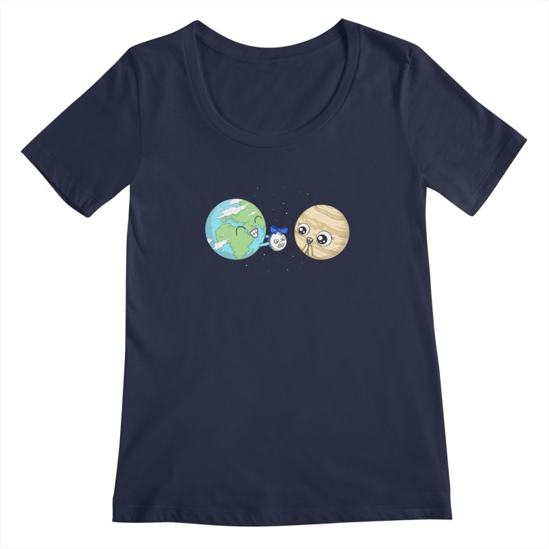 I'd Give You The Moon Women's Regular Scoop Neck by spookylili