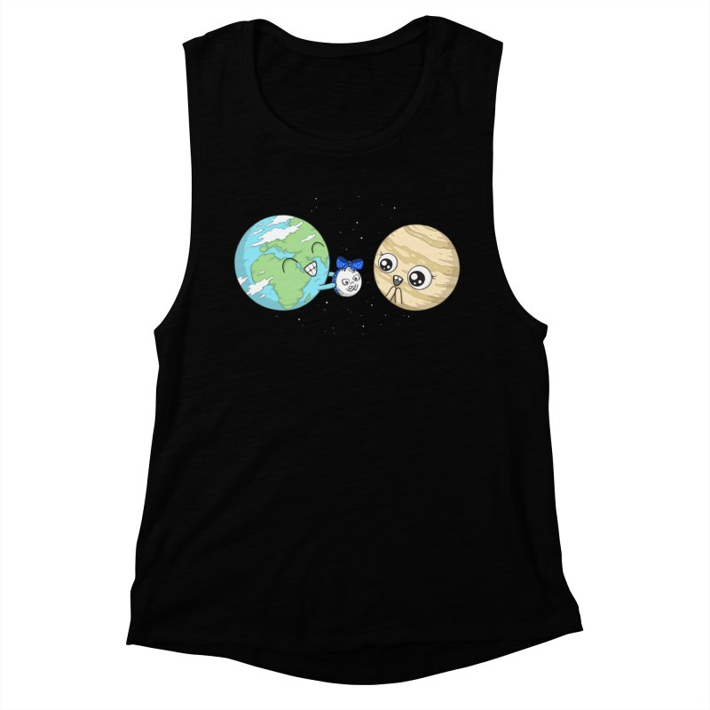 I'd Give You The Moon Women's Muscle Tank by spookylili