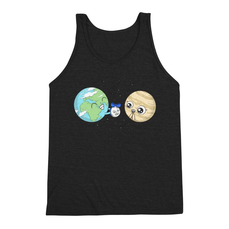 I'd Give You The Moon Men's Triblend Tank by spookylili