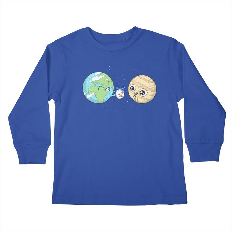 I'd Give You The Moon Kids Longsleeve T-Shirt by spookylili