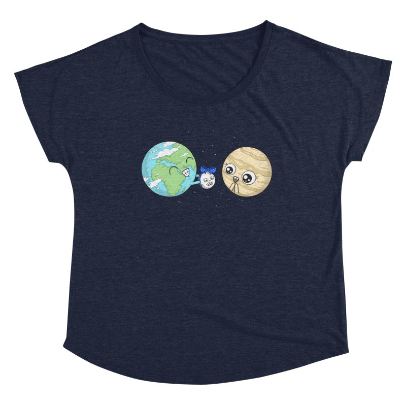 I'd Give You The Moon Women's Scoop Neck by spookylili