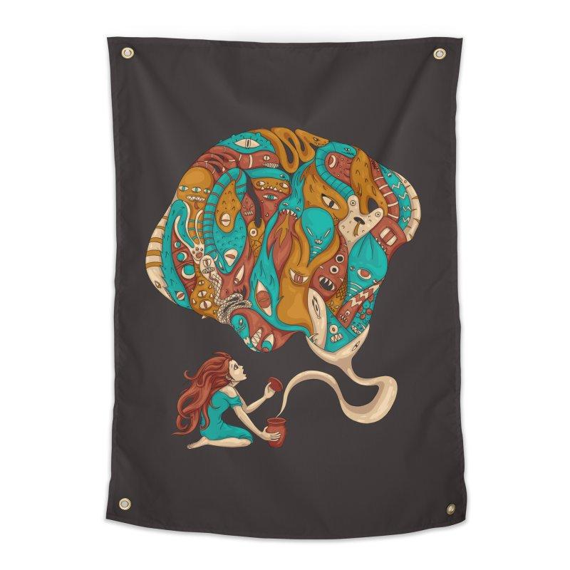 Pandora's Box Home Tapestry by spookylili