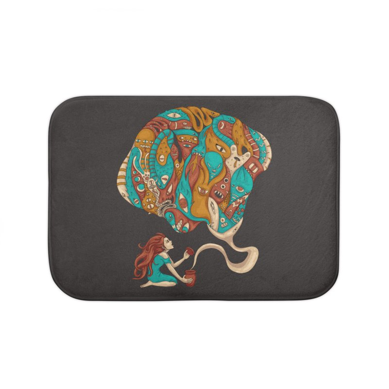 Pandora's Box Home Bath Mat by spookylili