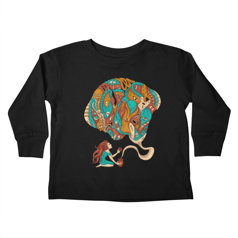 Pandora's Box Kids Toddler Longsleeve T-Shirt by spookylili