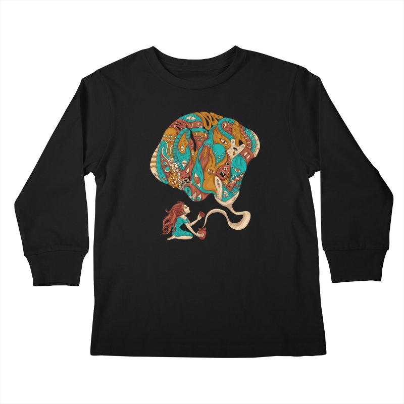 Pandora's Box Kids Longsleeve T-Shirt by spookylili
