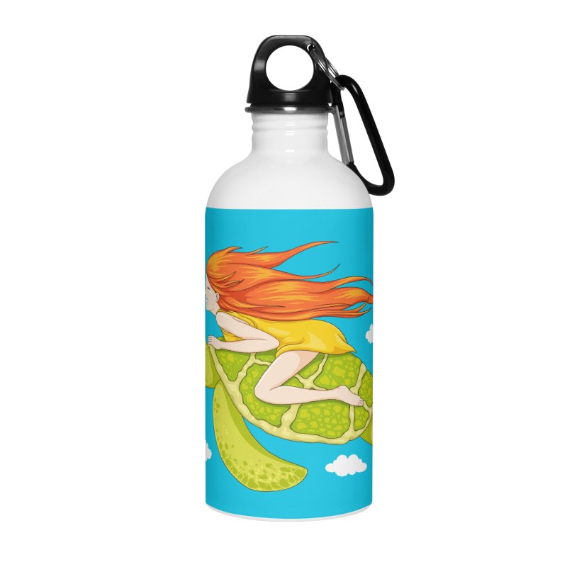 The Flying Turtle Accessories Water Bottle by spookylili