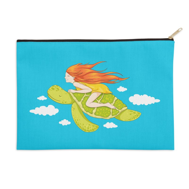 The Flying Turtle Accessories Zip Pouch by spookylili