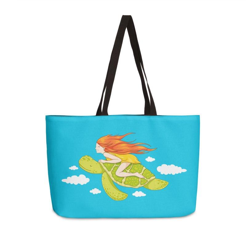 The Flying Turtle Accessories Weekender Bag Bag by spookylili