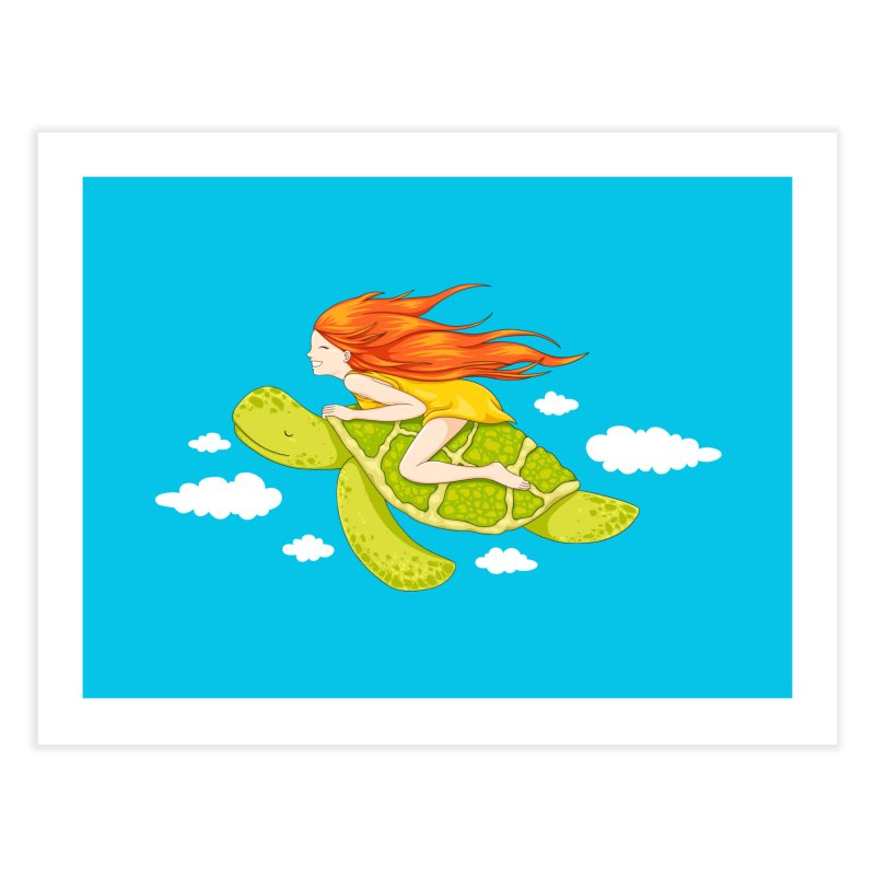 The Flying Turtle Home Fine Art Print by spookylili