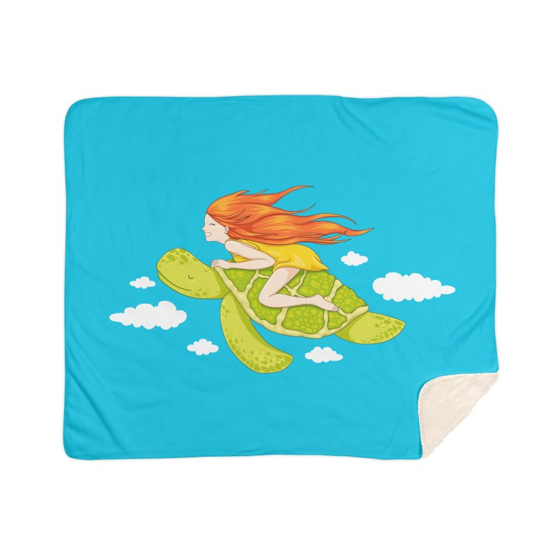 The Flying Turtle Home Blanket by spookylili