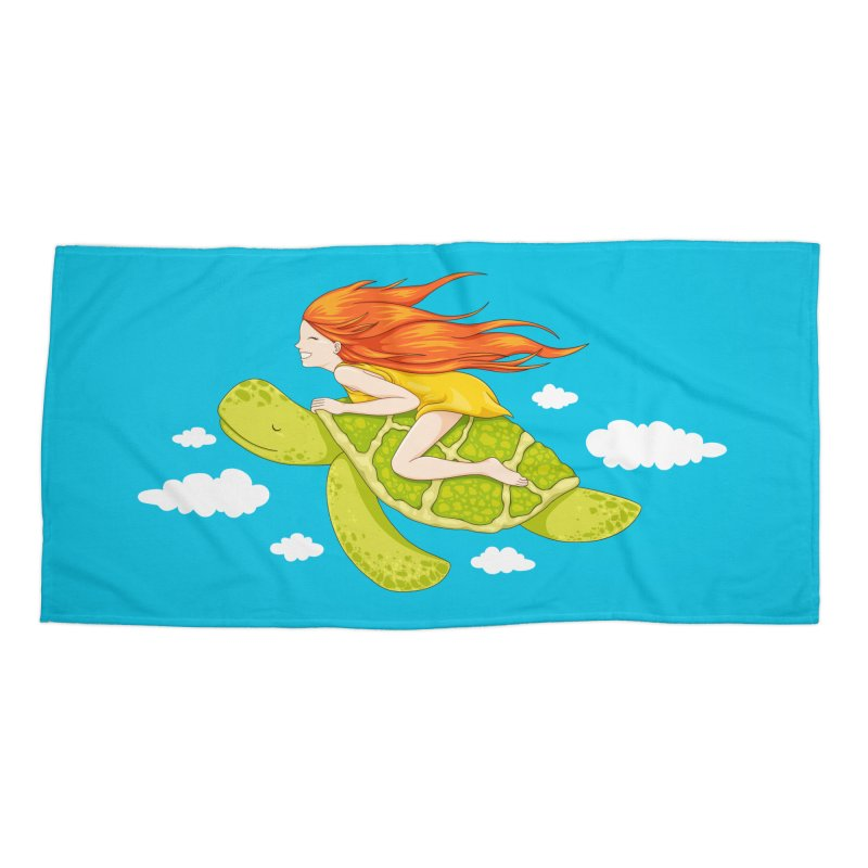 The Flying Turtle Accessories Beach Towel by spookylili