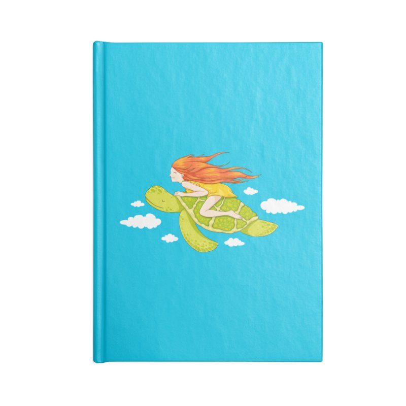 The Flying Turtle Accessories Lined Journal Notebook by spookylili