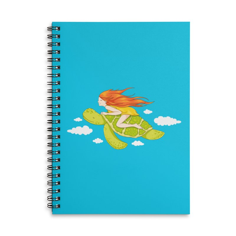 The Flying Turtle Accessories Lined Spiral Notebook by spookylili