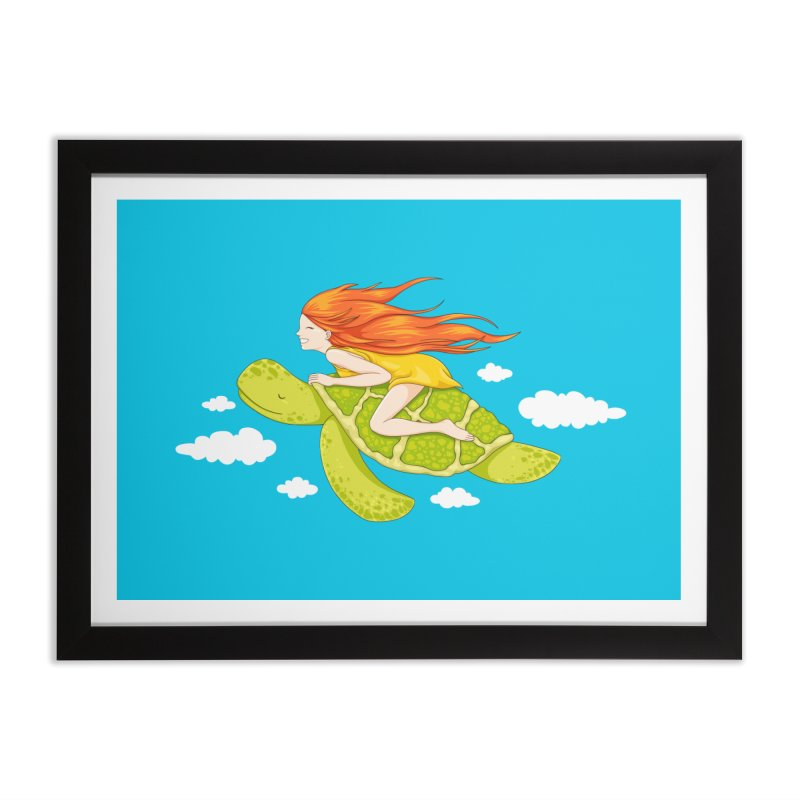The Flying Turtle Home Framed Fine Art Print by spookylili