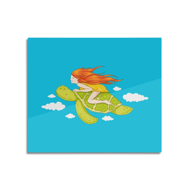 The Flying Turtle Home Mounted Acrylic Print by spookylili