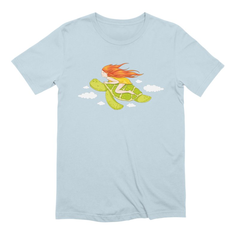 The Flying Turtle Men's Extra Soft T-Shirt by spookylili
