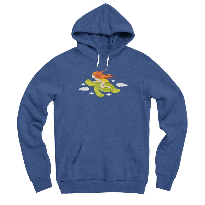 The Flying Turtle Men's Sponge Fleece Pullover Hoody by spookylili
