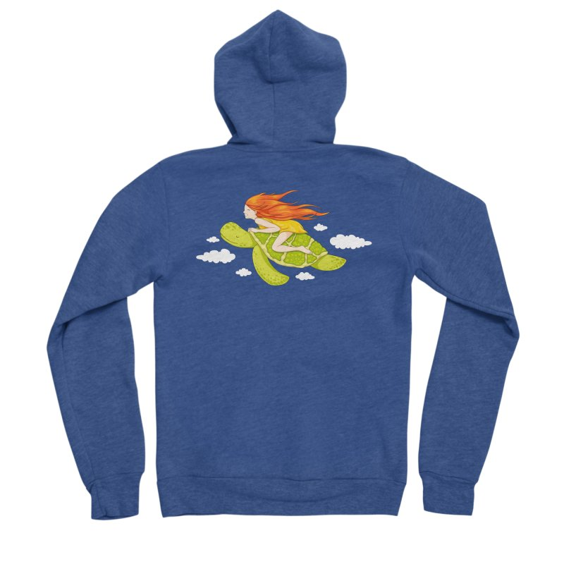 The Flying Turtle Men's Sponge Fleece Zip-Up Hoody by spookylili