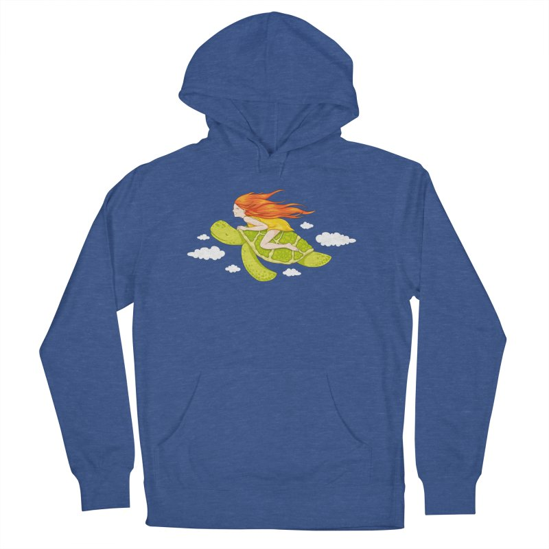 The Flying Turtle Men's Pullover Hoody by spookylili
