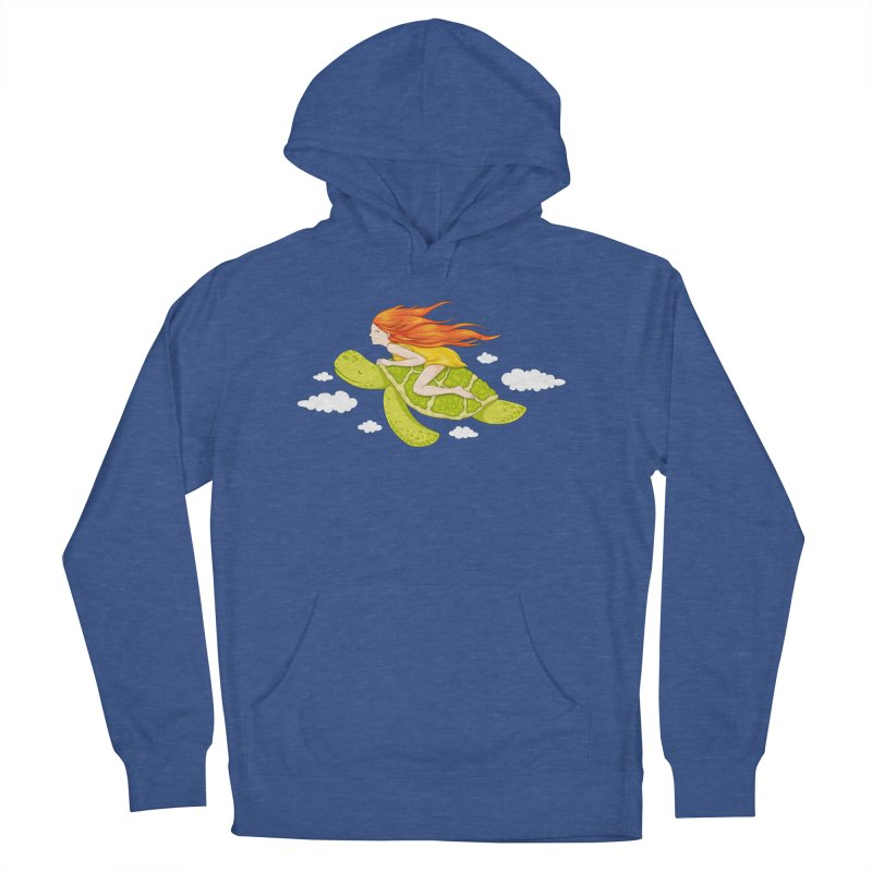 The Flying Turtle Men's French Terry Pullover Hoody by spookylili