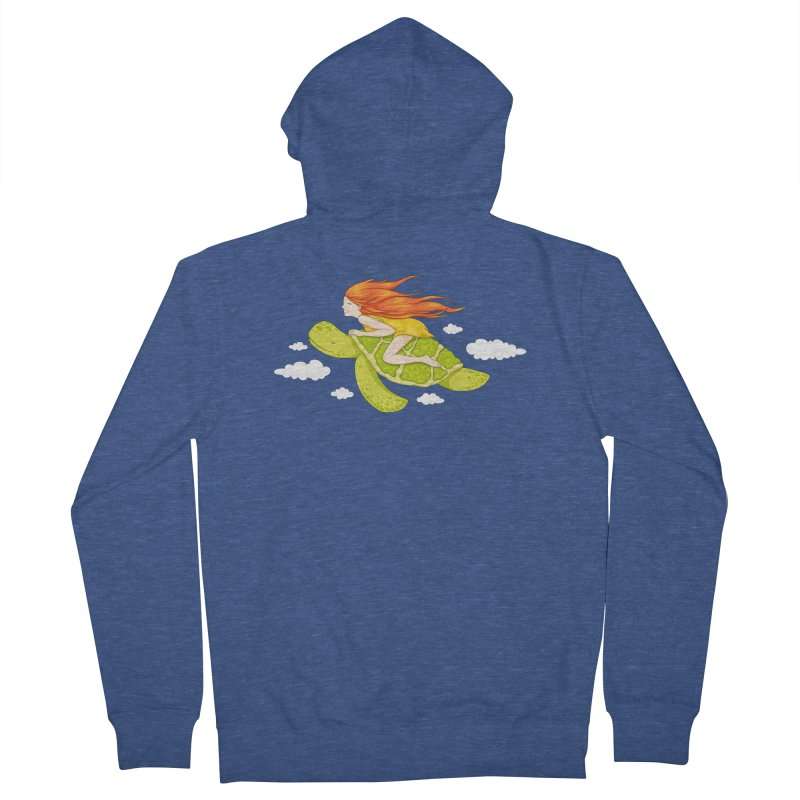 The Flying Turtle Men's French Terry Zip-Up Hoody by spookylili