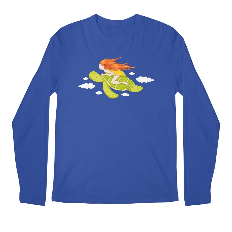 The Flying Turtle Men's Regular Longsleeve T-Shirt by spookylili