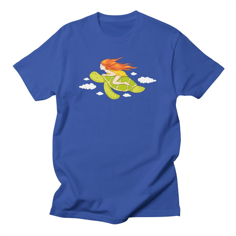 The Flying Turtle Men's T-Shirt by spookylili