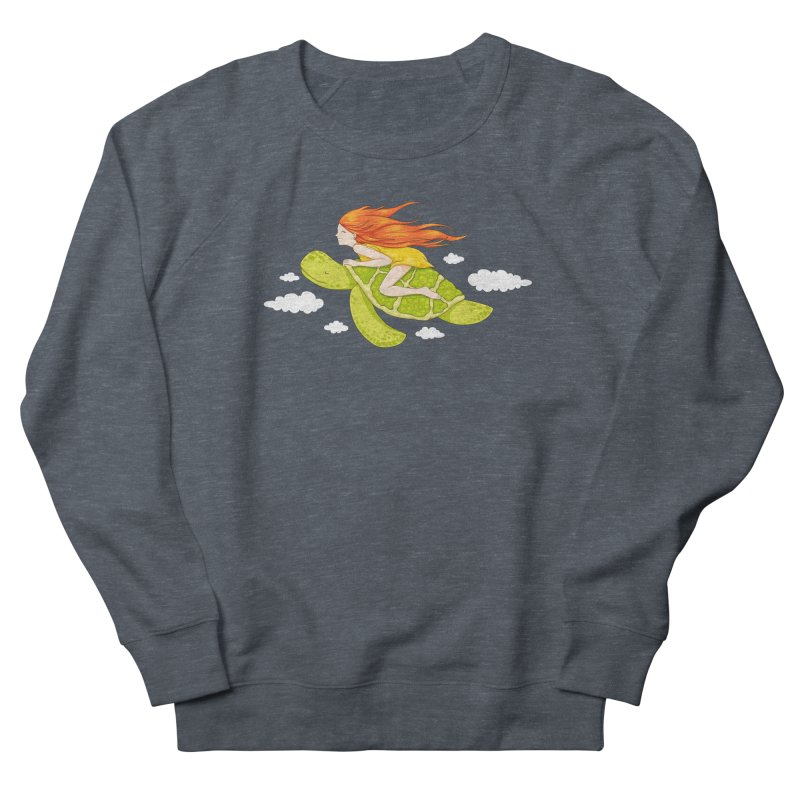 The Flying Turtle Women's French Terry Sweatshirt by spookylili