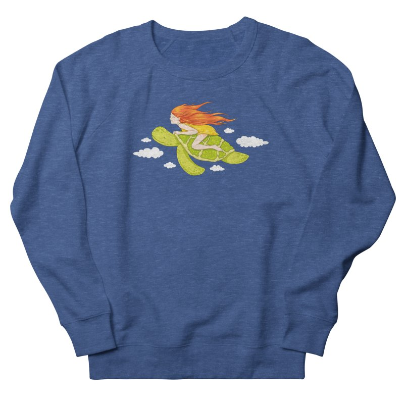 The Flying Turtle Men's French Terry Sweatshirt by spookylili