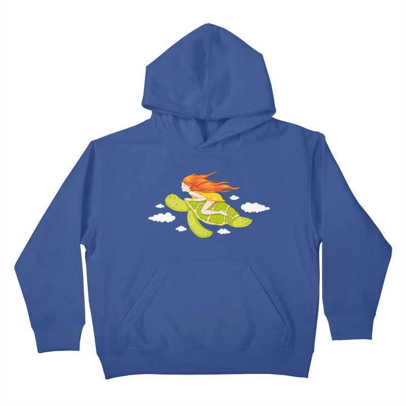 The Flying Turtle Kids Pullover Hoody by spookylili