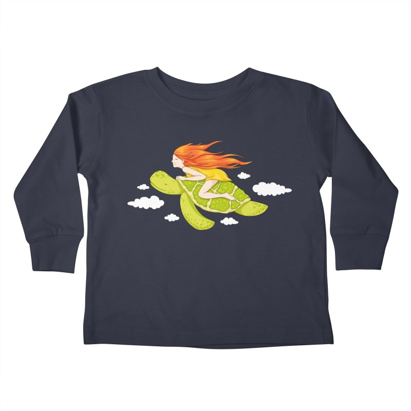 The Flying Turtle Kids Toddler Longsleeve T-Shirt by spookylili