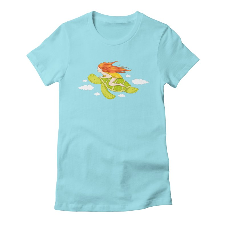 The Flying Turtle Women's T-Shirt by spookylili