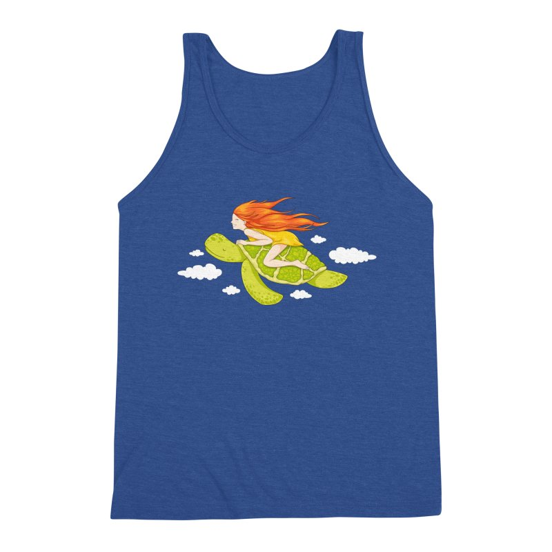 The Flying Turtle Men's Tank by spookylili
