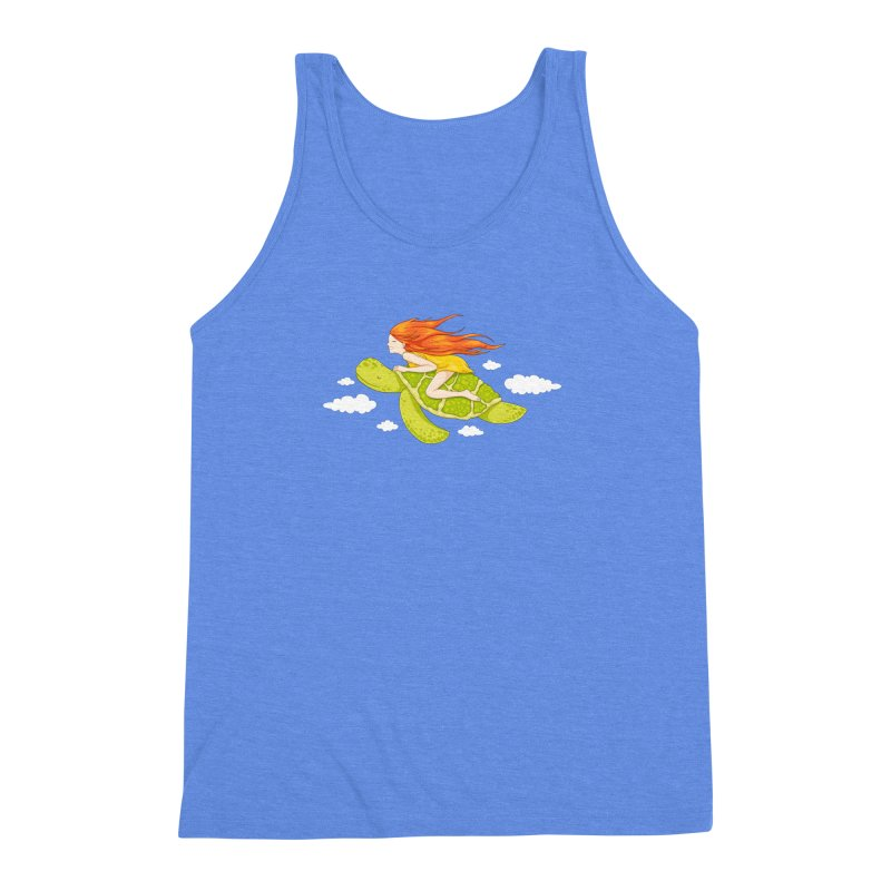 The Flying Turtle Men's Triblend Tank by spookylili