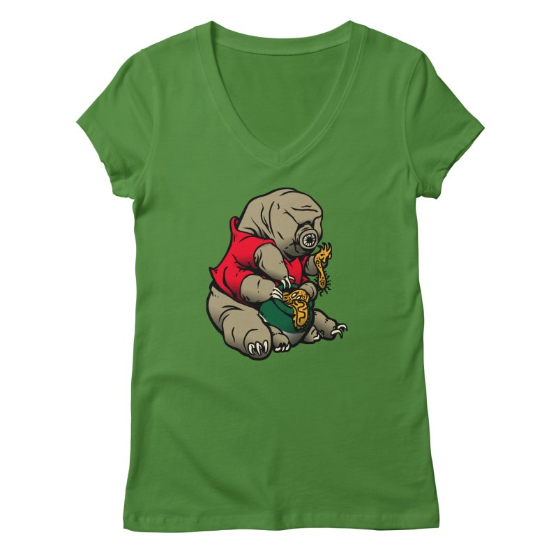 Water Pooh Bear Women's V-Neck by Sporecloud - Stuff by Jeff Bent