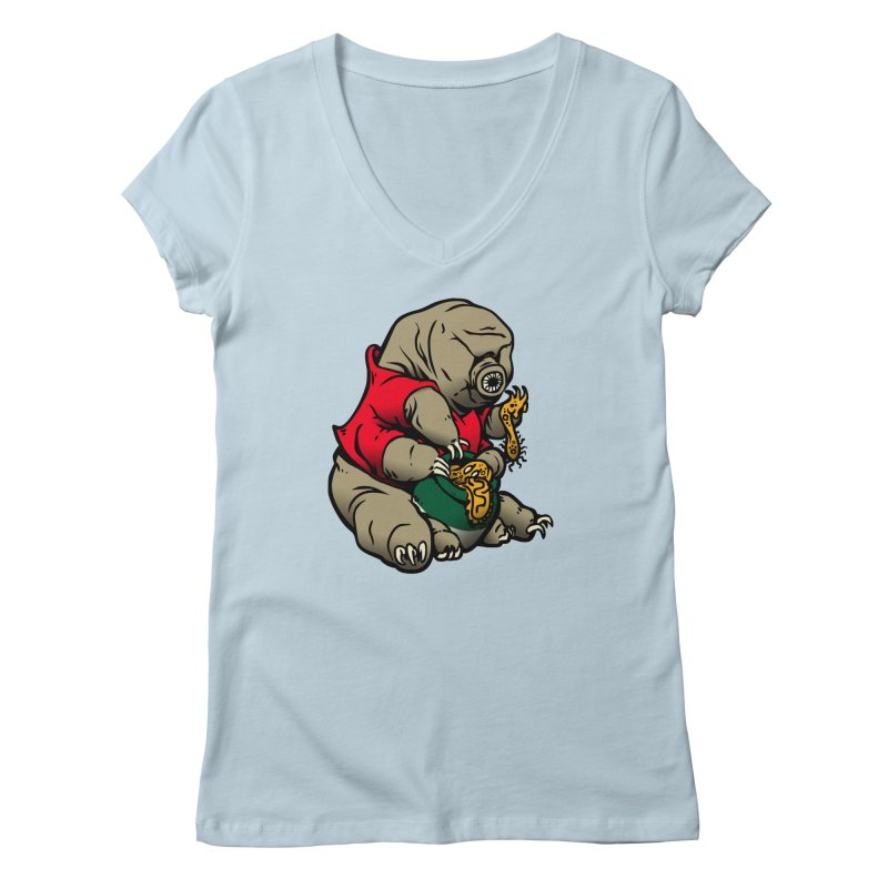 Water Pooh Bear Women's Regular V-Neck by Sporecloud - Stuff by Jeff Bent