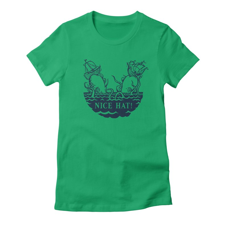 Nice Hat! Women's Fitted T-Shirt by Sporecloud - Stuff by Jeff Bent
